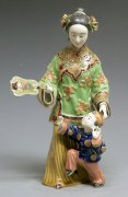 Ceramic Figurine Master Ancient Chinese Woman / Child Learning