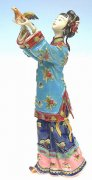 Ming Chinese Lady - Shiwan Chinese Ceramic Lady Figurine