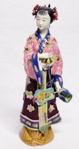 NEW Oriental Beauty Chinese Porcelain Ceramic Lady Figurine