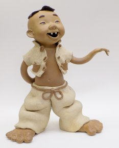 Exclusive Amusing Chinese Ceramic Dolls Figurine Statue Funny Musician