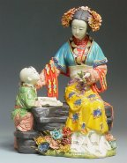 Mother & Child Love - Oriental Ancient Great Beauty Lady Figurine