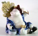 Porcelain Ceramic Doll Figurine Lucky Joyful Happy Fortune Monk