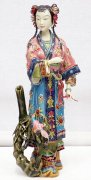 Bamboo & Bird Lady - Handmade Chinese Lady Porcelain Doll