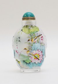 Birds and Flowers - Inside Painted Snuff Bottle