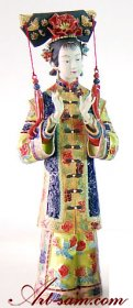 Master Chinese Ceramic / Porcelain Figurine Ancient China Qing C