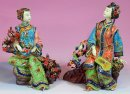 Sister - Shiwan Master Chinese Ceramic / Porcelain Lady Figurine