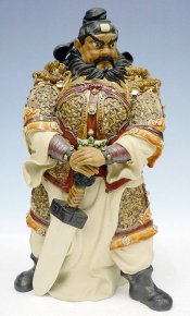 Zhong Kui Ancient Chinese FengShui God Ghost Catcher Ceramic Sta