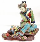 Ceramic Porcelain Figurines Statue Chinese Lady Bird