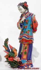 Ceramic Porcelain figurine Chinese Oriental lady statue