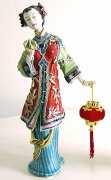 Delicate Porcelain Doll Ceramic Figurine Chinese Lady - Celebration