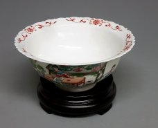 Exquisite Unique Glazed White Porcelain Bowl Handpainted Collect