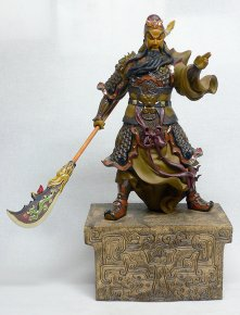 Guan Gong Figurine Masterpiece Ancient Chinese Warrior