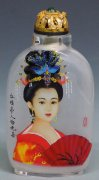 Inside Painted Snuff Bottle - Oriental Great Beauty Dream Of The Red Chamber