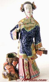 Master Chinese Oriental Lady Porcelain Figurine