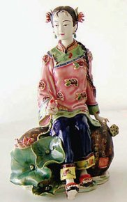 Porcelain / Ceramic Dolls Figurine China Oriental Fair Lady