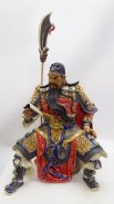 Ancient Chinese Warrior Guan Gong Porcelain Ceramic Figurine Statue 16""