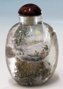 Crystal Snuff Bottle Collection - Inside Painting Landscape