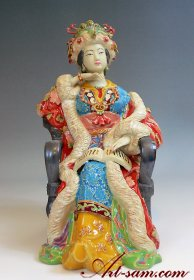 Dream of the Red Chamber - Chinese Ceramic Lady Figurine - Shiwa