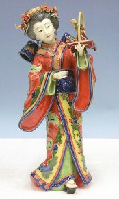 Japanese Kimono Geisha Lady Porcelain Figurine China Ceramics