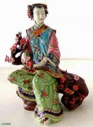 Joyful - Chinese Ceramic / Porcelain Figurine Oriental Lady