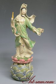 Kwan Yin Chinese Porcelain / Ceramic Statue Masterpiece Collection 19""