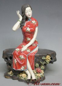 Master Chinese Porcelain Dolls Ceramic Lady Figurine Oriental Woman Limited