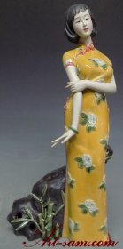 Oriental Chinese Women Masterpiece Ceramic Porcelain Doll Figurine