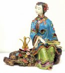 Relaxing Lady - Chinese Ceramic Figurine