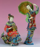 Twins Sister - Chinese Porcelain Lady Figurine Masterpiece