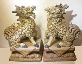 HUGE Chinese Feng Shui Qilin Imperial Guardian Dragons