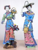 Oriental Chinese Ceramic / Porcelain Lady Figurine Great Beauty