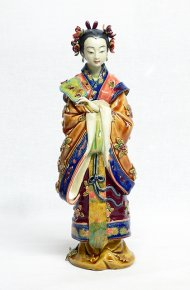 Oriental Lady Concubine Chinese Porcelain Doll Sculpture