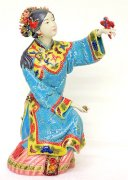 Ancient Chinese Woman - Ceramic Lady Figurine