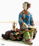 Chinese Ceramic Porcelain Dolls Fine Collection Oriental Beauty Enjoying