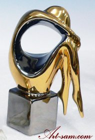 GALOS Porcelain Figurine Platinum & Gold Finish