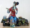 Oriental Chinese Great Beauty Sister Ceramic Figurine - Dream Of