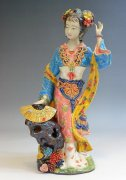 Oriental Great Beauty Porcelain Figurine Dream Of Red Chamber