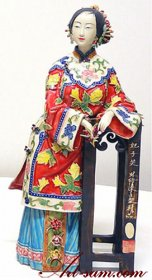 Ancient Chinese Lady - Ceramic Porcelain Dolls Figurine