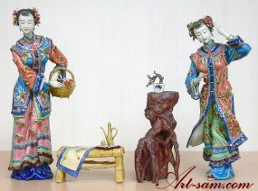 Ceramic / Porcelain Lady Figurine Oriental Chinese Great Beauty