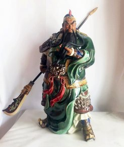 Guan Gong Ancient China Famous Warrior Black Dragon Guan-Yu Guarding