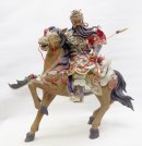 Guan Gong Horse Ancient Warrior Masterpiece Chinese Ceramic Figurine Statue