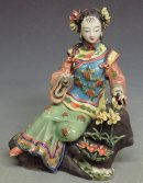Porcelain Dolls Ceramic Figure Oriental China Girl Sculpture
