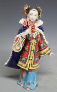 Ancient Chinese Lady - Shiwan Ceramic Lady Figurine