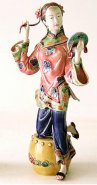 Ceramic Figurine Porcelain Doll Oriental Pretty Lady Makeup