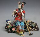 Oriental Chinese Great Beauty Ceramic Figurine Dream Red Chamber