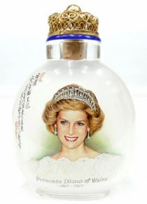 Princess Diana - Inside Painted Snuff Bottle - Painted In 1998