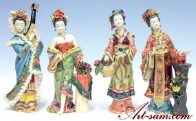 The 4 Great Beauties of China - Porcelain Figurine Set