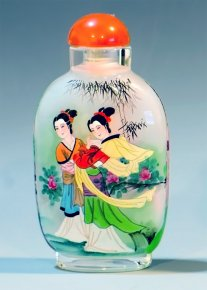 Women on the Moon - Chang'e - Inside Painted Snuff Bottle