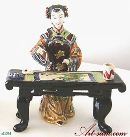 Ancient Chinese Lady - Ceramic Lady Figurine Art Painting