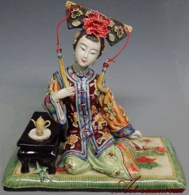 Ancient Traditional Chinese Lady - Chinese Ceramic Lady Figurine